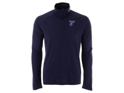 St. Louis Blues adidas NHL Men's Secondary Logo Climatelite Quarter Zip Pullover