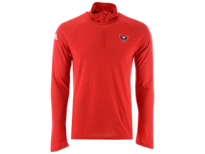 Washington Capitals adidas NHL Men's Secondary Logo Climatelite Quarter Zip Pullover