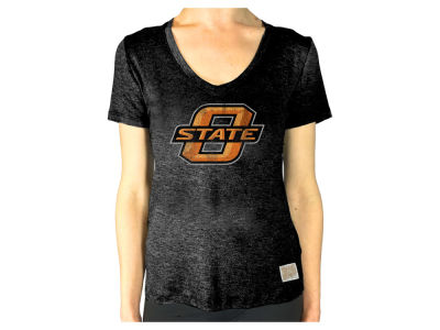 Oklahoma State Cowboys Retro Brand NCAA Women's Rayon V-Neck T-Shirt