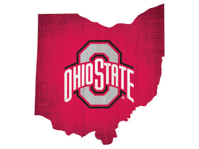 Ohio State Buckeyes Home State with Heart Wood Sign