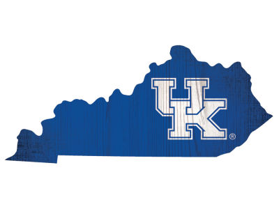 Kentucky Wildcats Home State with Heart Wood Sign