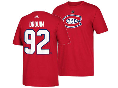 Montreal Canadiens Jonathan Drouin adidas NHL Men's Silver Player T-shirt