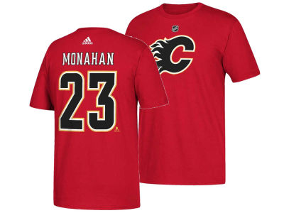 Calgary Flames Sean Monahan adidas NHL Men's Silver Player T-shirt