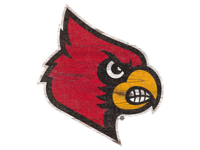 "Louisville Cardinals 24"" Distressed Logo Cutout Wood Sign"
