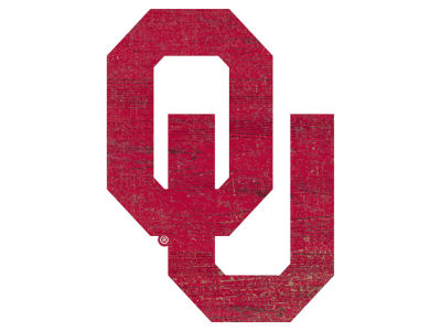 "Oklahoma Sooners 24"" Distressed Logo Cutout Wood Sign"