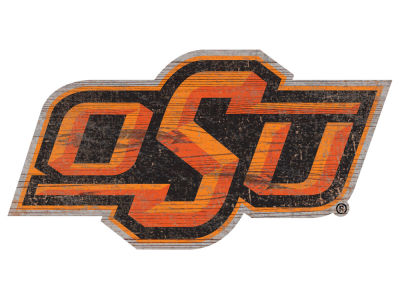 "Oklahoma State Cowboys 24"" Distressed Logo Cutout Wood Sign"