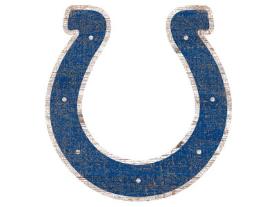 "Indianapolis Colts 24"" Distressed Logo Cutout Wood Sign"