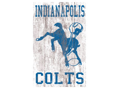 Indianapolis Colts 11x19 Heritage Distressed Logo Sign