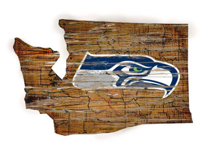 Seattle Seahawks Team Logo Road Map Wall Art