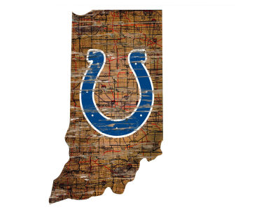 Indianapolis Colts Team Logo Road Map Wall Art