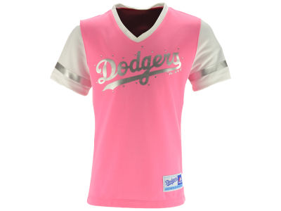Los Angeles Dodgers 5th & Ocean MLB Girls Curveball V-Neck T-Shirt