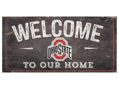 Ohio State Buckeyes 6x12 Welcome Wood College Sign