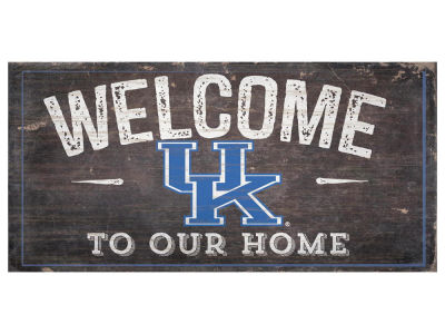 Kentucky Wildcats 6x12 Welcome Wood College Sign
