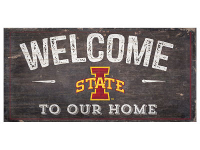 Iowa State Cyclones 6x12 Welcome Wood College Sign