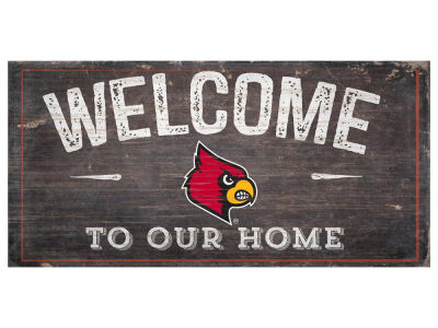 Louisville Cardinals 6x12 Welcome Wood College Sign