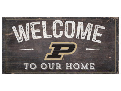Purdue Boilermakers 6x12 Welcome Wood College Sign