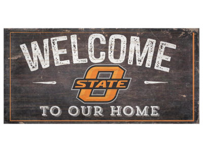 Oklahoma State Cowboys 6x12 Welcome Wood College Sign