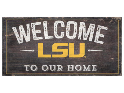 LSU Tigers 6x12 Welcome Wood College Sign