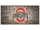 Ohio State Buckeyes 6x12 Heritage Wood College Sign Bed & Bath