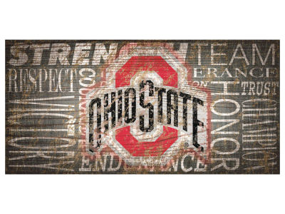 Ohio State Buckeyes 6x12 Heritage Wood College Sign