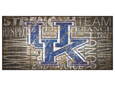 Kentucky Wildcats 6x12 Heritage Wood College Sign