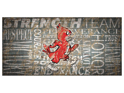 Louisville Cardinals 6x12 Heritage Wood College Sign
