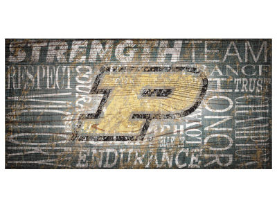 Purdue Boilermakers 6x12 Heritage Wood College Sign