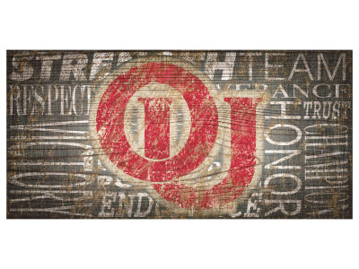 Oklahoma Sooners 6x12 Heritage Wood College Sign