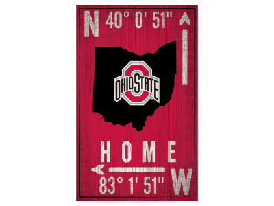 Ohio State Buckeyes 11x19 Coordinate Sign