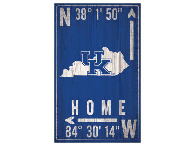 Kentucky Wildcats 11x19 Coordinate Sign
