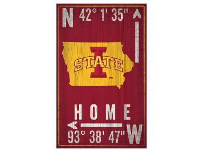 Iowa State Cyclones 11x19 Coordinate Sign