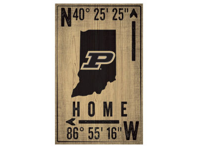 Purdue Boilermakers 11x19 Coordinate Sign