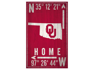 Oklahoma Sooners 11x19 Coordinate Sign