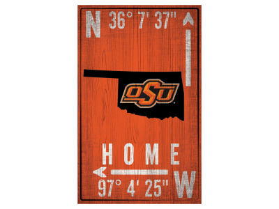 Oklahoma State Cowboys 11x19 Coordinate Sign
