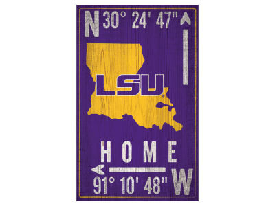 LSU Tigers 11x19 Coordinate Sign