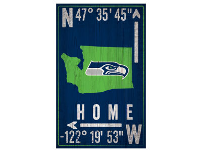 Seattle Seahawks 11x19 Coordinate Sign