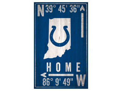 Indianapolis Colts 11x19 Coordinate Sign