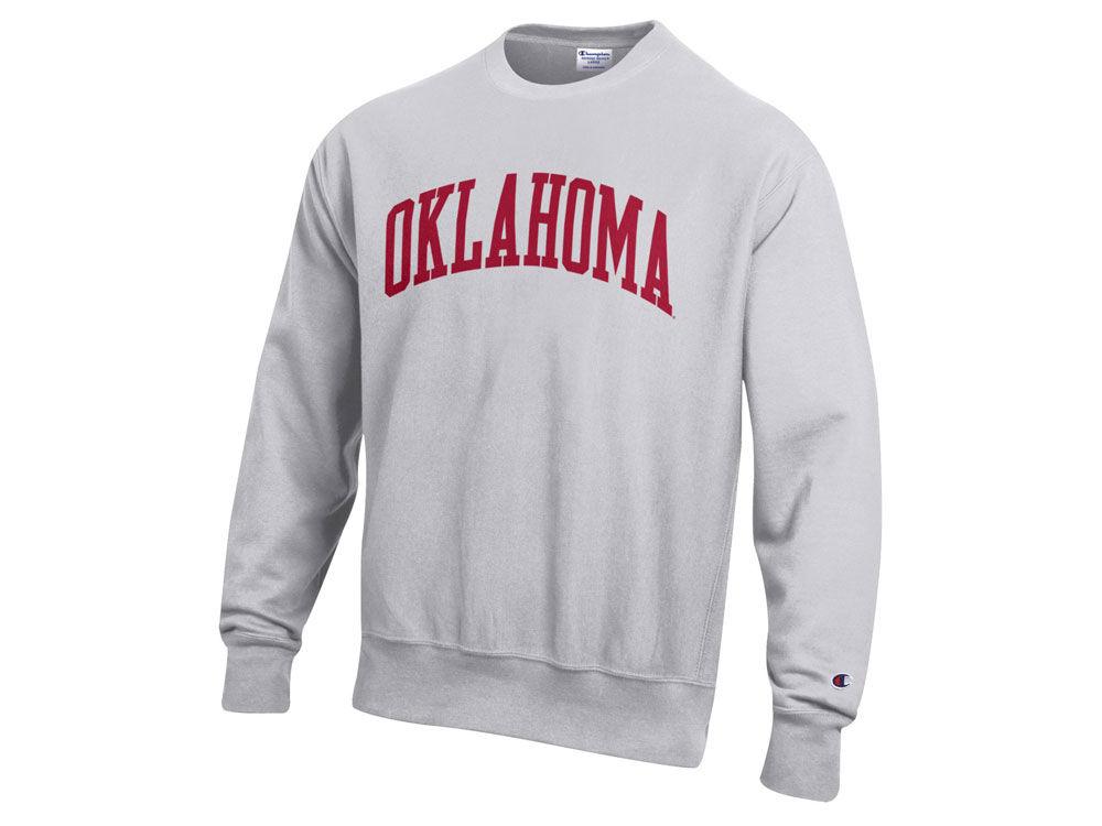 4e25556c Oklahoma Sooners Champion NCAA Men's Reverse Weave Crew Sweatshirt