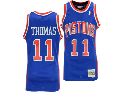 Detroit Pistons Isiah Thomas Mitchell & Ness NBA Men's Hardwood Classic Swingman Jersey