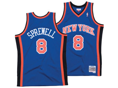New York Knicks Latrell Sprewell Mitchell & Ness NBA Men's Hardwood Classic Swingman Jersey
