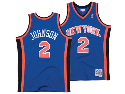 New York Knicks Larry Johnson Mitchell & Ness NBA Men's Hardwood Classic Swingman Jersey