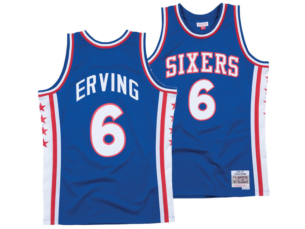 5df23f2f35b ... reduced philadelphia 76ers julius erving mitchell ness nba mens  hardwood classic swingman jersey b4ce3 53d77