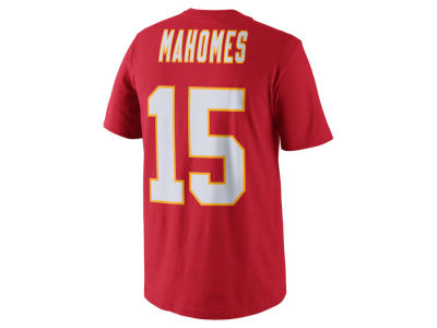 Kansas City Chiefs Pat Mahomes Nike NFL Men's Pride Name and Number T-Shirt