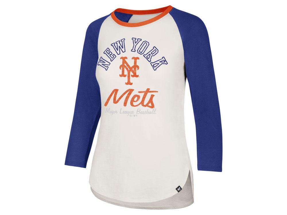 New York Mets  47 MLB Women s Vintage Raglan T-shirt  21f9476d6