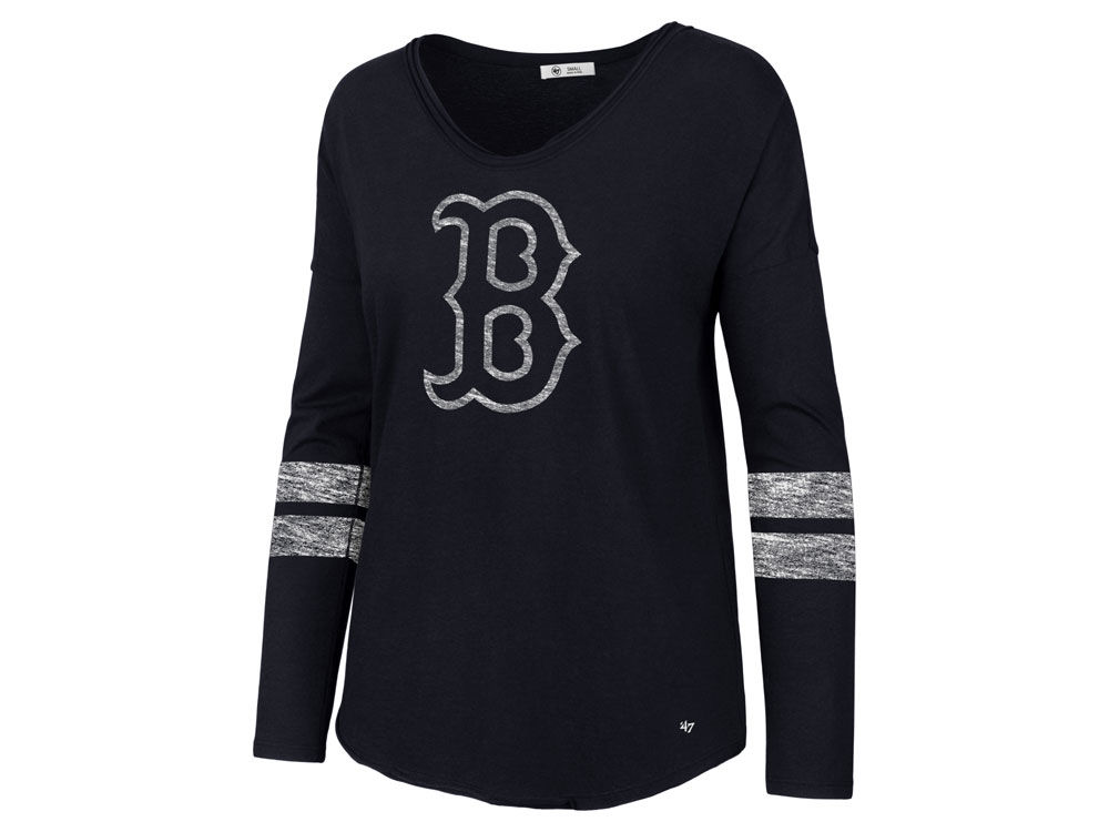 Boston Red Sox  47 MLB Women s Court Side Long Sleeve T-Shirt  ac4ba08e31