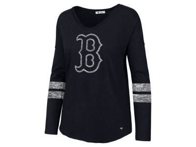 Boston Red Sox '47 MLB Women's Court Side Long Sleeve T-Shirt