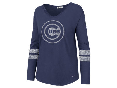 Chicago Cubs '47 MLB Women's Court Side Long Sleeve T-Shirt