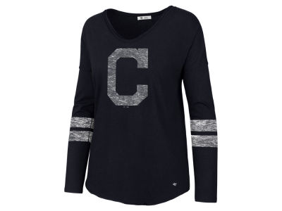 Cleveland Indians '47 MLB Women's Court Side Long Sleeve T-Shirt