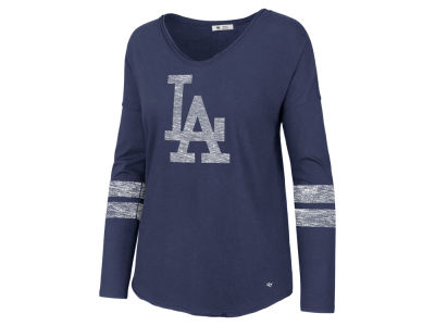 Los Angeles Dodgers '47 MLB Women's Court Side Long Sleeve T-Shirt