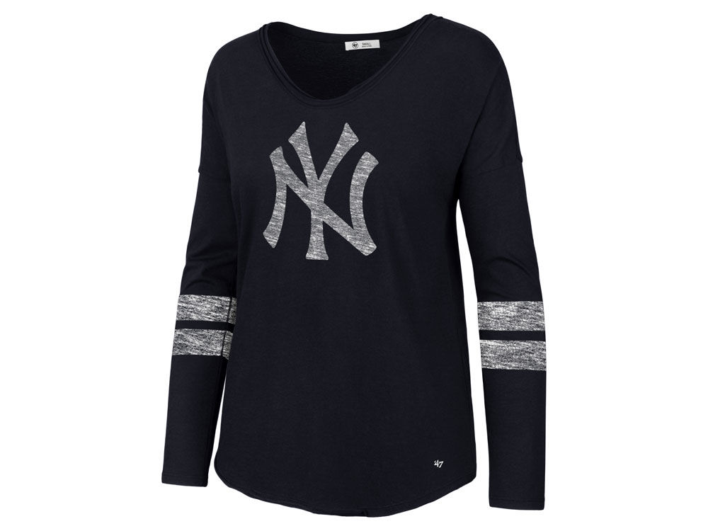 New York Yankees  47 MLB Women s Court Side Long Sleeve T-Shirt ... e64fabe1257
